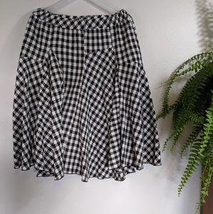 Sugar Lips Large Gingham Full Skirt